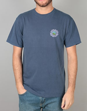 Stüssy Acid Drop Pigment Dyed T-Shirt - Navy