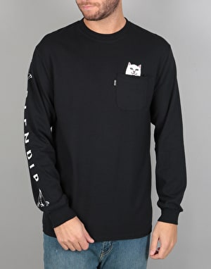 RIPNDIP Lord Nermal Pocket L/S T-Shirt - Black