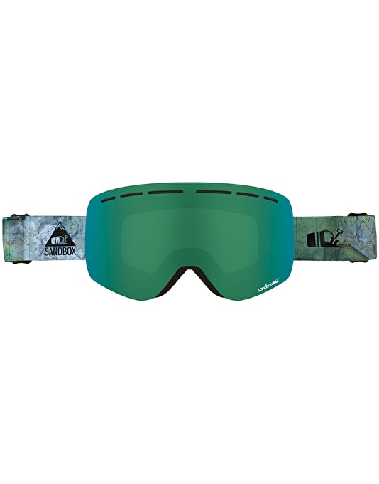Sandbox The Kingpin 2019 Snowboard Goggles - Backyard/Green Ion