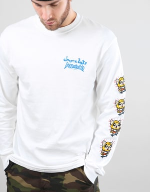 Chocolate x Sanrio Aggretsuko L/S T-Shirt - White