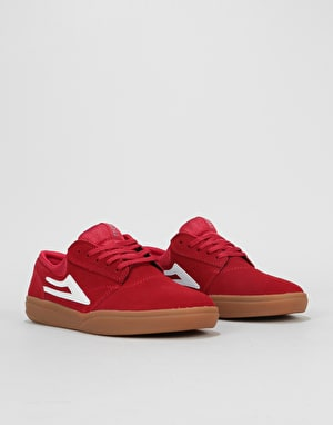 Lakai Griffin XLK Skate Shoes - Red/Gum Suede