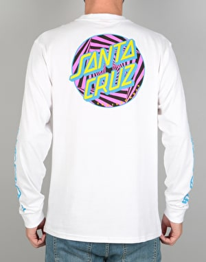 Santa Cruz Party Dot L/S T-Shirt - White