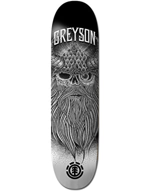 Element Greyson Skull Skateboard Deck - 8.5
