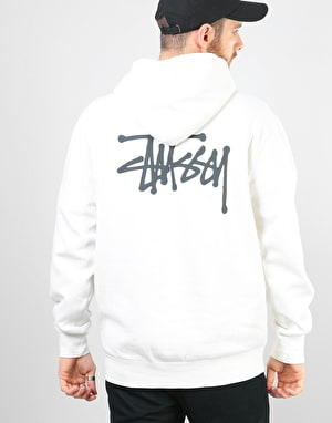 Stüssy Basic Stüssy Pigment Dyed Pullover Hoodie - Natural