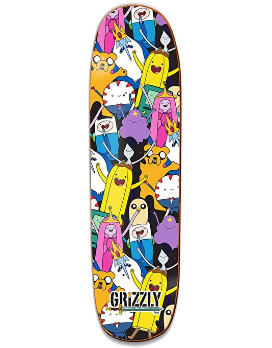Grizzly x Adventure Time Like Your Brain & Stuff Cruiser Deck - 8.375""