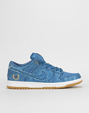 Nike SB Dunk Low Skate Shoes - Hydrogen Blue/Hydrogen Blue-White
