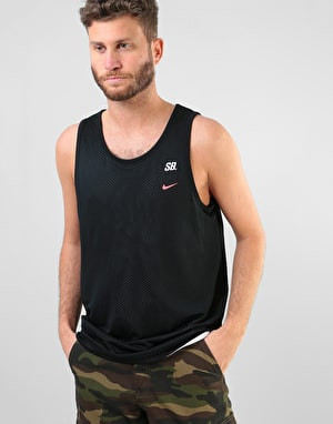 Nike SB Mesh Dri-Fit Tank - Black/White/Solar Red