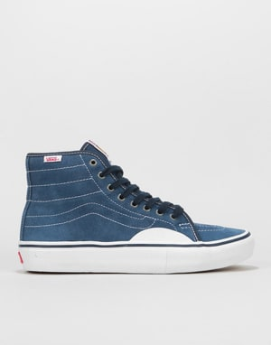 Vans AV Classic High Pro Skate Shoes - Navy/White
