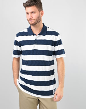 Vans x Spitfire S/S Polo Shirt - White/Dress Blues