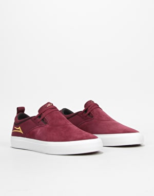 Lakai Riley Hawk II Skate Shoes - Burgundy Suede