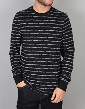 HUF Fuck It Jacquard L/S T-Shirt - Black