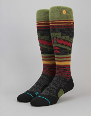 Stance Smoke Shack All Mountain Snowboard Socks - Olive