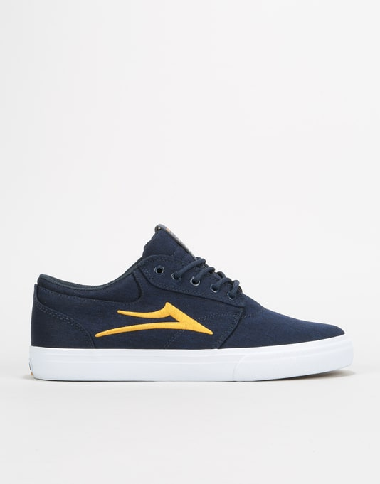 Lakai Griffin Skate Shoes - Navy/Gold Textile