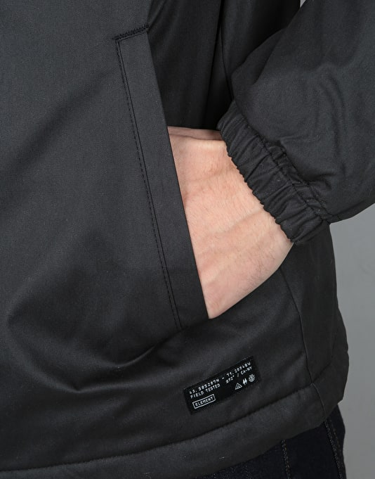 Element Alder Wax Jacket - Flint Black
