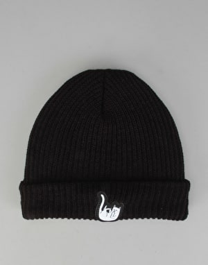 RIPNDIP Falling For Nermal Rib Beanie - Black