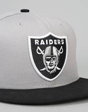 New Era 9Fifty Oakland Raiders Cotton Snapback Cap - Grey/Black