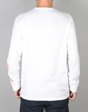 RVCA x Toy Machine L/S T-Shirt - White