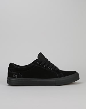 State Hudson Skate Shoes - Black/Black Suede