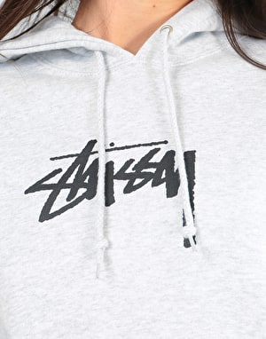 Stüssy Womens Stock Oversized Hoodie - Grey Heather