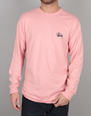 Stüssy Basic Stüssy L/S T-Shirt - Dusty Rose