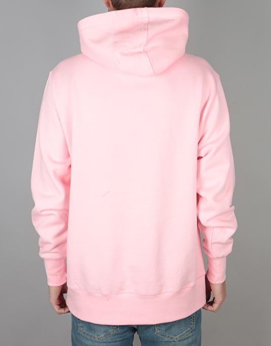 RIPNDIP Logo Embroidered Pullover Hoodie- Pink