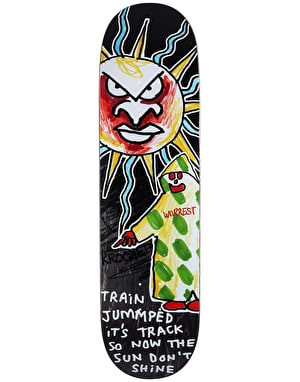 Krooked Worrest Don't Shine Skateboard Deck - 8.25