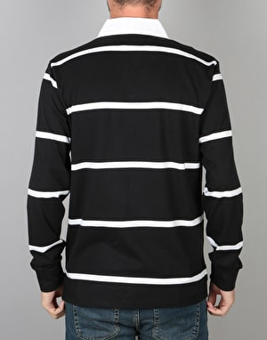 Obey Bridgewater L/S Polo Shirt - Black Multi