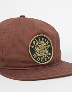 Spitfire OG Classic Swirl Patch Snapback Cap - Brown