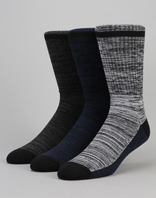 Globe Florence Deluxe Socks 3 Pack - Assorted