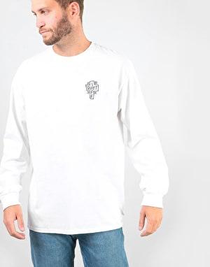 The Quiet Life Sharpie Logo L/S T-Shirt - White