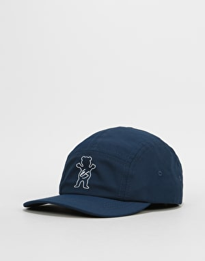 éS x Grizzly Wimbledon 5 Panel Cap - Blue