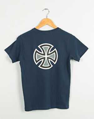 Independent Bar Cross Boys T-Shirt - Navy