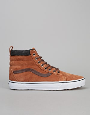 Vans Sk8-Hi MTE Skate Shoes - (MTE) Glazed Ginger/Plaid