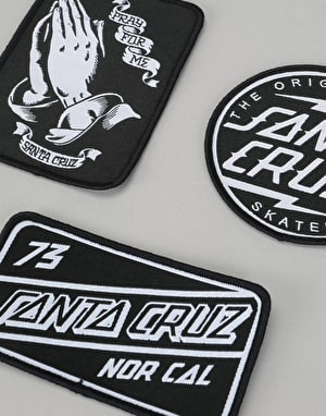 Santa Cruz SCB Patch Set - Black