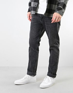 Route One Premium Slim Denim Jeans - Washed Black