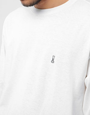 Diamond Fasten L/S T-Shirt - White