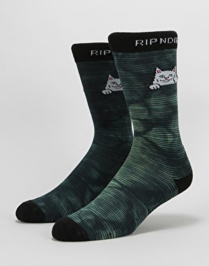 RIPNDIP Peeking Nermal Socks - Swamp Dye