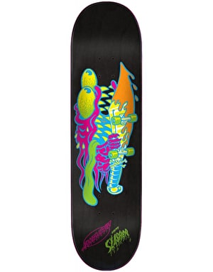 Santa Cruz Neon Slasher Skateboard Deck - 8.375