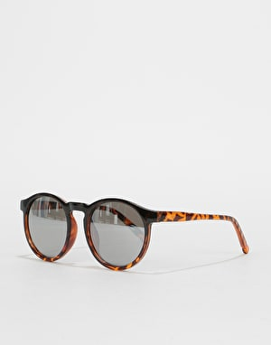 Route One Oval Sunglasses - Black Tortoise