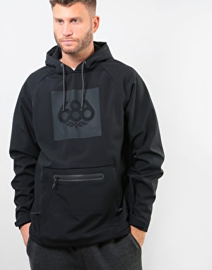686 Waterproof Pullover Hoodie - Black Knockout