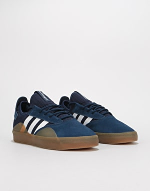 Adidas 3ST.001 Skate Shoes - Collegiate Navy/White/Gum