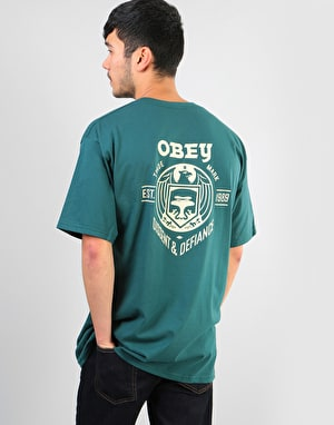 Obey Obey Dissent & Defiance Eagle T-Shirt - Pine