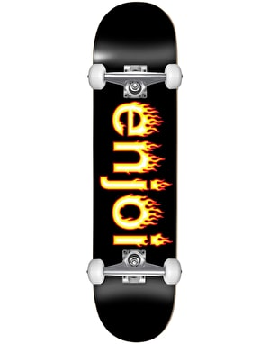 Enjoi Helvetica Flame Mini Complete Skateboard - 7.25