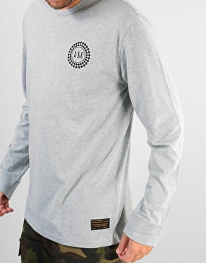 Levi's Skateboarding Taxi Badge L/S T-Shirt - Heather Grey/Black