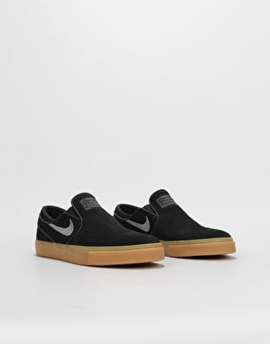 Nike SB Zoom Stefan Janoski Slip-On Womens Trainers - Black/Gunsmoke