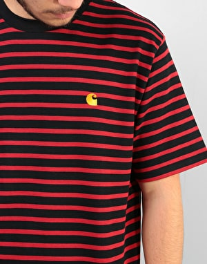 Carhartt Robie T-Shirt - Black/Blast Red/Quince