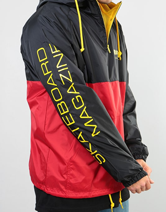 Thrasher Mag Logo Anorak Jacket - Black/Red