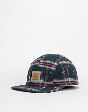 Carhartt Carlos Origin 5 Panel Cap - Carlos Check/Jupiter Heather