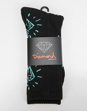 Diamond Supply Co. Outshine Crew Socks - Black
