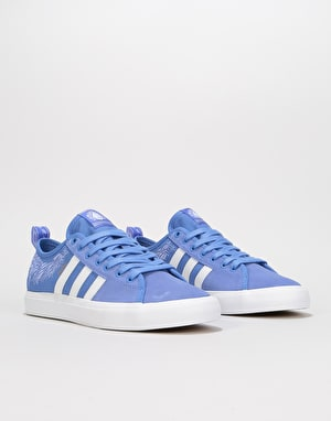 Adidas Nora Matchcourt RX Skate Shoes - Real Lilac/White/Customized